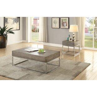 Brayden Studio Royal 2 Piece Coffee Table Set