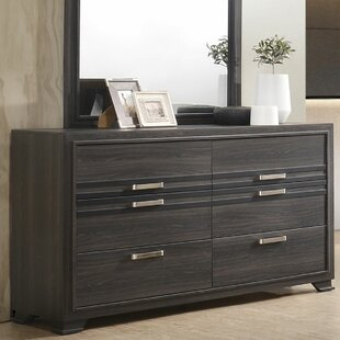 Jester Wooden 6 Drawer Double Dresser