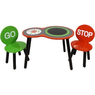 Glines Children's 3 Piece Table And Chair Set By Zoomie Kids