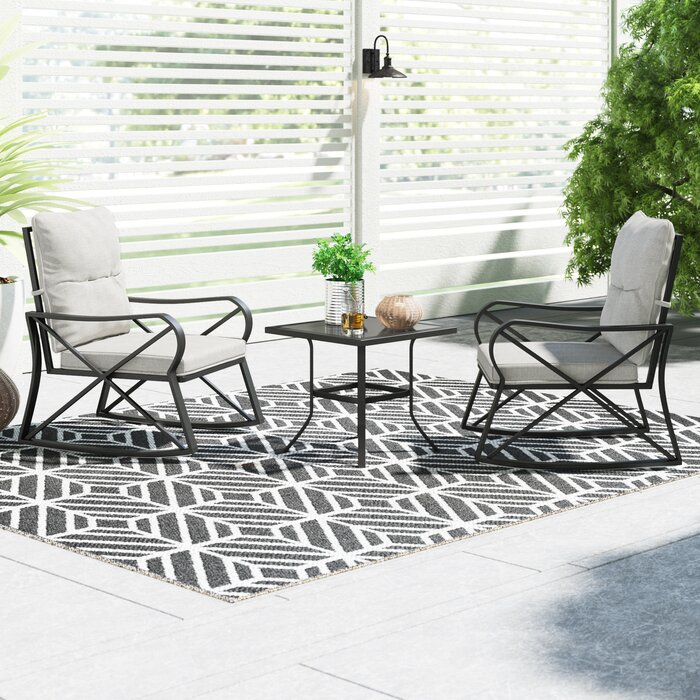 Dezi 3 Piece Bistro Set with Cushions