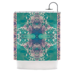 Ashby Blossom Teal Single Shower Curtain