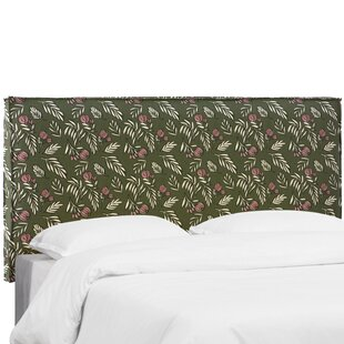 Mariela Seam Slipcover Debris Floral Upholstered Panel Headboard by Brayden Studio Cool
