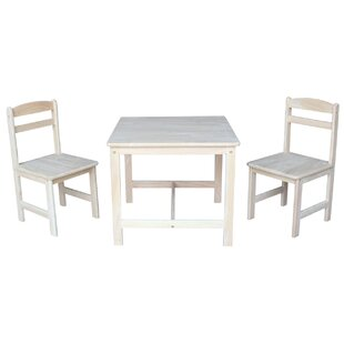 Great Price Lynn Kids 3 Piece Table and Chair Set ByMistana