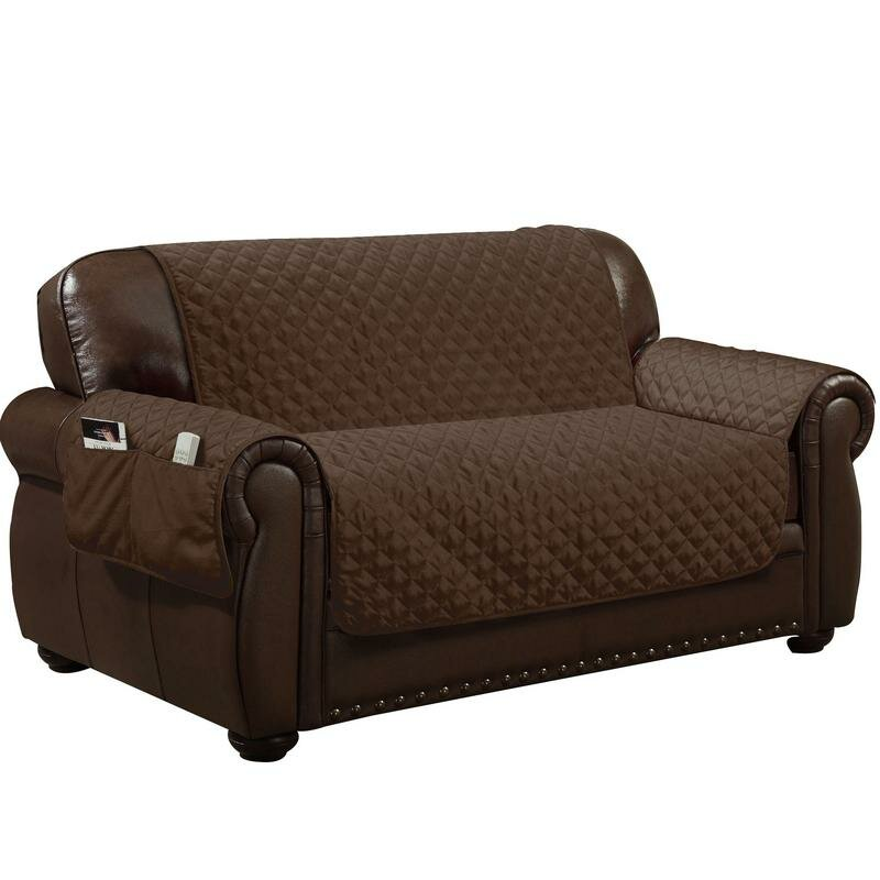 Water Resistant T Cushion Loveseat Slipcover