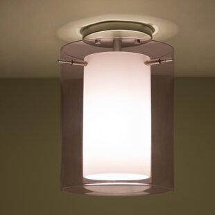Pahu LED Outdoor Semi Flush Mount by Besa Lighting
