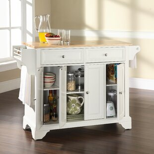 Abbate Kitchen Island with Wood Top