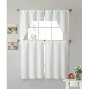 jitu lace kitchen curtain set of 2