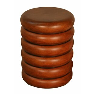 Ribbed Faux Bois Accent Stool by Phillips Collection