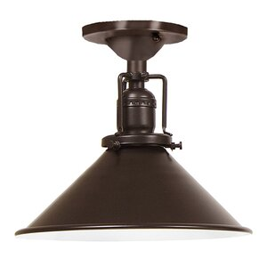 Edgar Modern 1-Light Metal Semi Flush Mount