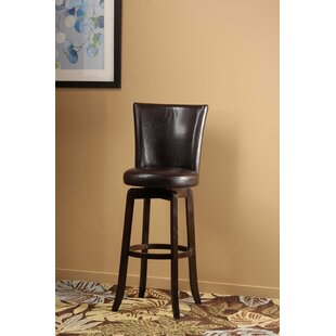 Shipyard Bitter Root 25.75 Swivel Bar Stool Red Barrel Studio