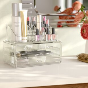 Makeup organizers youll love wayfair jewelry and cosmetic organizer watchthetrailerfo