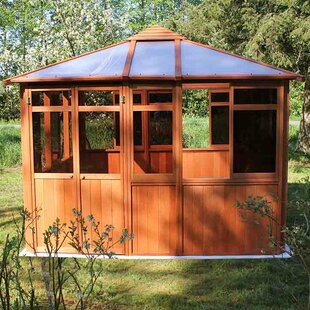 Westview Manufacturing Solarus 10.5 Ft. W x 10.5 Ft. D Solid Wood Patio Gazebo