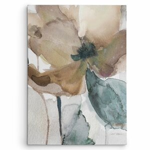 'Watercolor Poppy I' by Carol Robinson Painting Print on Wrapped Canvas