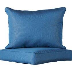 Darby Home Co 2 Piece Indoor/Outdoor Sunbrella Chair Cushion Set ...
