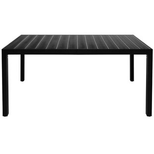 Hudgens Garden Aluminium Dining Table By Sol 72 Outdoor