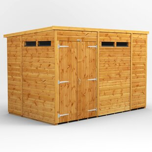 6 Ft. W X 10 Ft. D Solid Wood Garden Shed By WFX Utility
