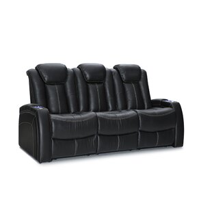 Leather Home Theater Row Seating Row of 3