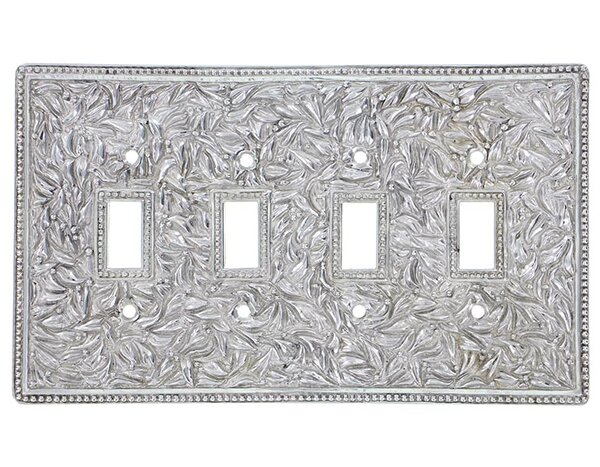 Vicenza Designs San Michele 4 Gang Toggle Light Switch Wall Plate Wayfair