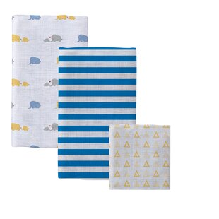 Bargain Bella 3 Piece Cotton Baby Blanket Set By Pure Fiber