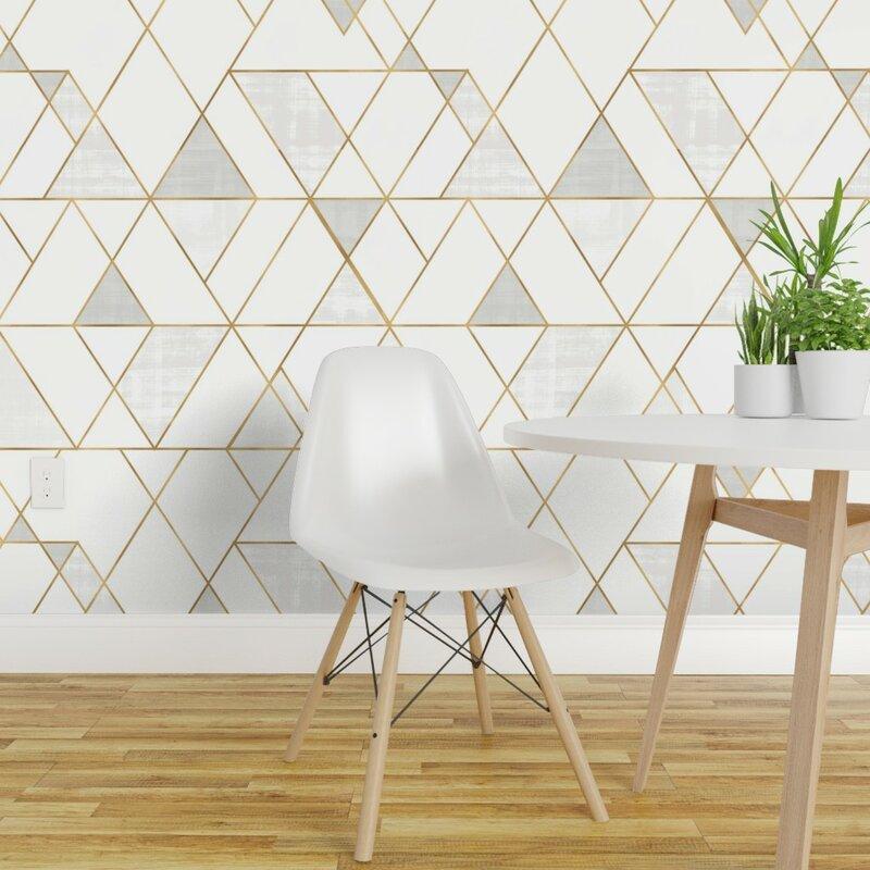 Ivy Bronx Clarkson Geometric Removable Peel And Stick Wallpaper Panel Wayfair