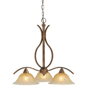 Red Barrel Studio Demi 3-Light Shaded Chandelier