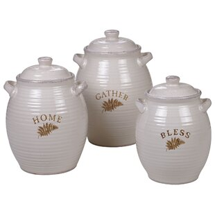 3 Piece Kitchen Canister Set by August Grove Cheap
