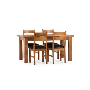 Rebekah Dining Set With 4 Chairs By August Grove