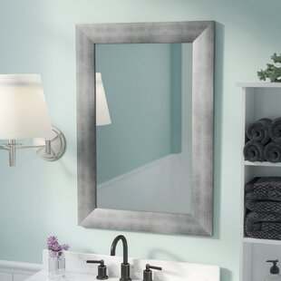 Best Rectangle Muted Cool Wall Mirror ByRosecliff Heights