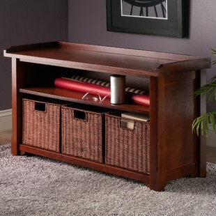 Alcott Hill Alasan Wooden Storage Bench