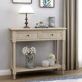 Hutchcraft 35.43 Solid Wood Console Table by Rosalind Wheeler
