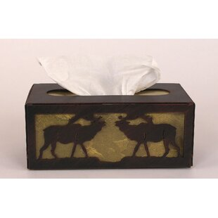 Loon Peak Glenlee Elk Rectangular Tissue Box Cover