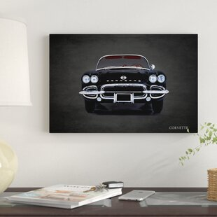 '1962 Chevrolet Corvette' Graphic Art Print on Canvas By East Urban Home