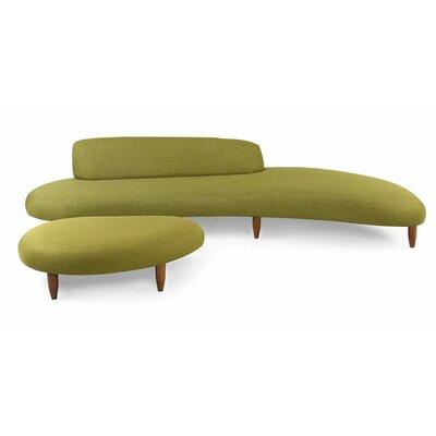 Admirable Brayden Studio Potvin Mid Century Modern Sofa And Ottoman Dailytribune Chair Design For Home Dailytribuneorg