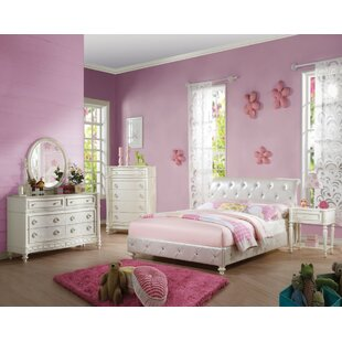 Shimer Padded Twin Panel Bed