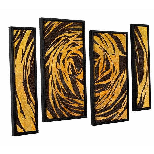 Latitude Run Buttercup Shape Contrast 4 Piece Framed Graphic Art Set Wayfair
