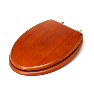 Decorative Wood Elongated Toilet Seat