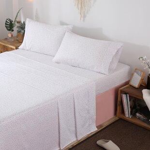 Bridwell 300 Thread Count Floral / Flower 100% Cotton Sateen Sheet Set