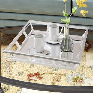 Square Polished Nickel Mirrored Tray