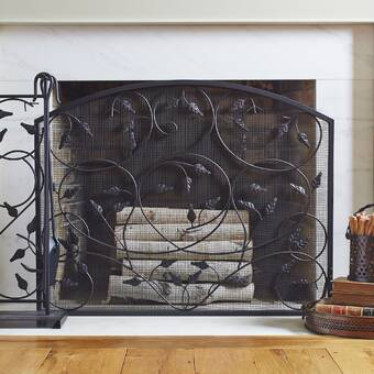Peachy Plow Hearth Tree Of Life Single Panel Iron Fireplace Home Interior And Landscaping Ologienasavecom