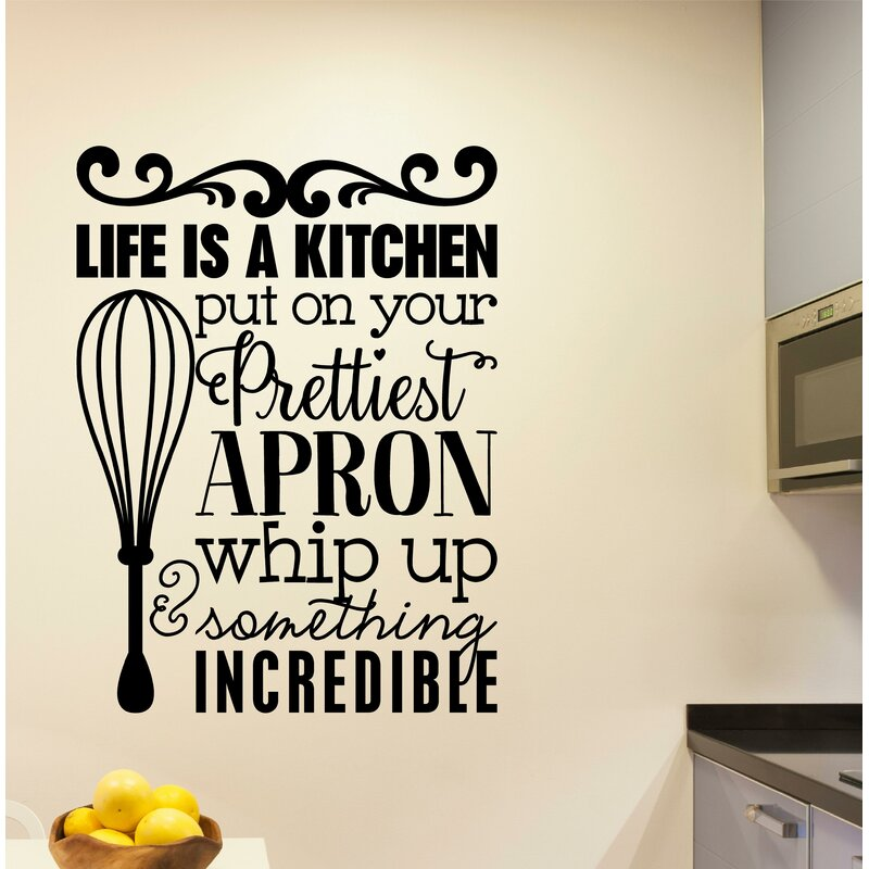 Bon Grossi Life Is A Kitchen Vinyl Wall Decal