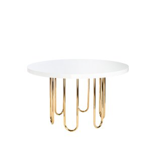 Statements by J Willow Gold Base Dining Table
