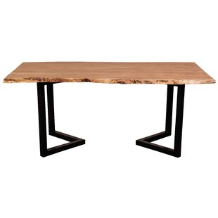 Leslie Acacia Live Edge Solid Wood Dining Table