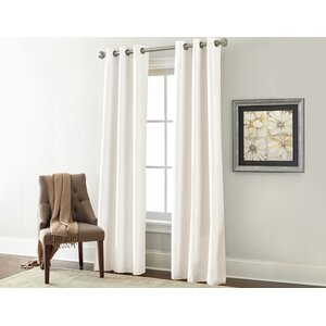 Textured Solid Blackout Rod Pocket Curtain Panels (Set of 2)