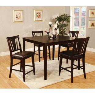 Hertford 5 Piece Counter Height Dining Set by Charlton Home No Copoun