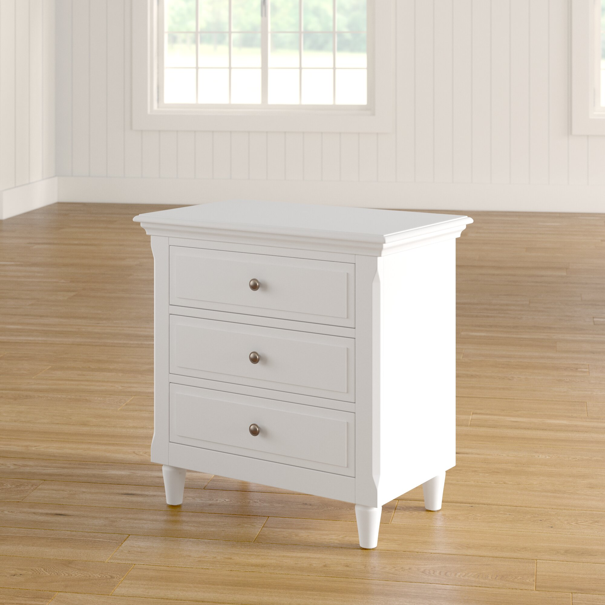 Three Posts Wickes 3 Drawer Nightstand Reviews Wayfair