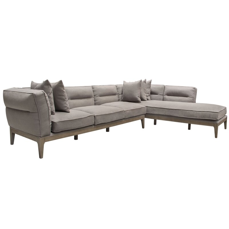Diamond Sofa Eden Right Hand Facing Sectional | Wayfair