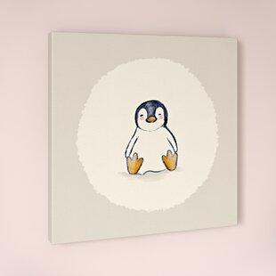 Zoe Penguin Canvas Art By HoneyBee Nursery