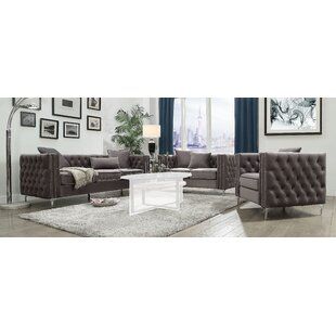 Trimble 3 Piece Living Room Set by Rosdorf Park