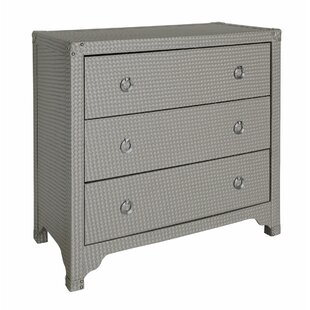 Haslemere Faux Weave Leather 3 Drawer Chest Of Drawers