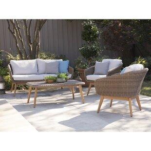 Chenoweth 3 Piece Rattan Conversation Set